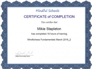 Certificate MF